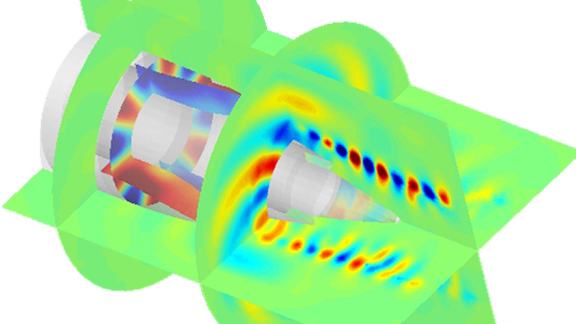 airplane engine simulation with actran